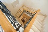 Staircase inside a luxury villa