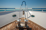 Bow of a luxury motor yacht