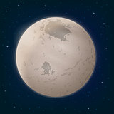 Moon Charon in Space