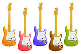 Colourful Electric Guitars
