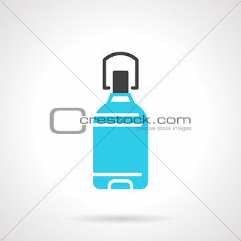 Potable water bottle blue vector icon