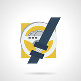 Driver safety flat vector icon