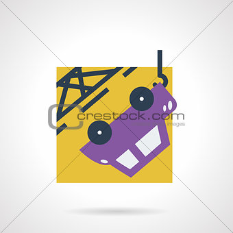 Car towing flat vector icon