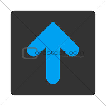 Arrow Up flat blue and gray colors rounded button