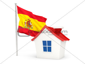 House with flag of spain