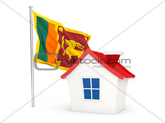 House with flag of sri lanka