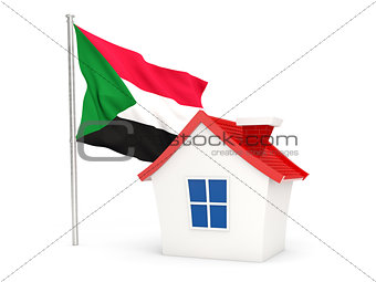 House with flag of sudan