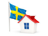 House with flag of sweden
