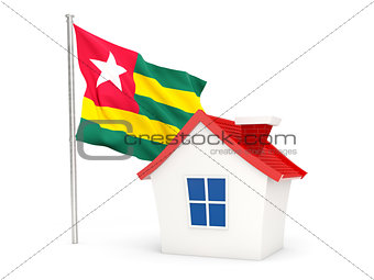 House with flag of togo