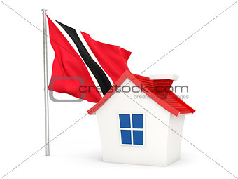 House with flag of trinidad and tobago