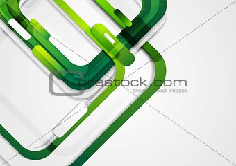 Abstract green geometric corporate background