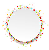 Circle design with shiny light confetti
