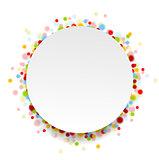 Circle design with shiny light confetti
