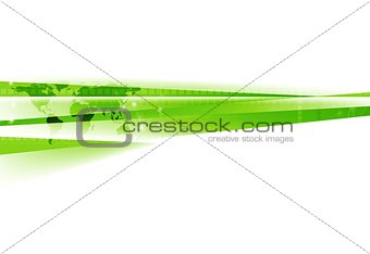 Abstract green white tech corporate background