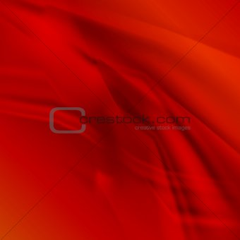 Abstract smooth lines vector red background