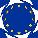 European union colors abstract corporate background