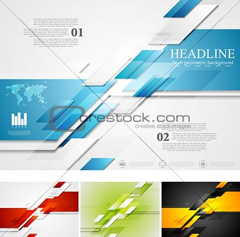 Abstract bright corporate tech background