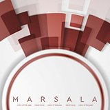 Trendy color marsala 2015. Technology abstract background
