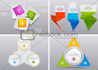 Abstract infographics bright vector design