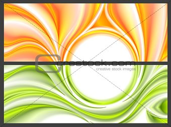 Abstract bright smooth waves pattern