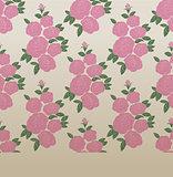 Rose elegant vintage seamless pattern