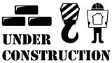 black under construction symbol