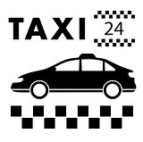 taxi signboard around the clock services