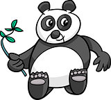 giant panda cartoon illustration
