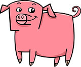 pig farm animal cartoon