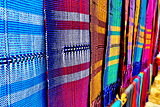 Colorful thai native fabric