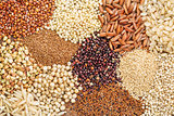 gluten free grains background abstrtact