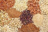 gluten free grains background abstrtact
