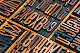 lettepress wood type abstract