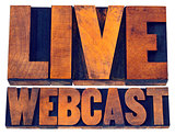 live webcast sign in wood type