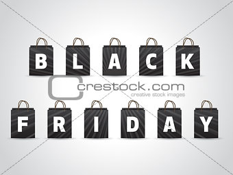 Black friday background with black shopping bags
