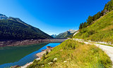 Bissina Lake with Dam - Adamello Trento Italy