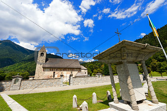 Church and the War Memorial - Pinzolo Trento Italy