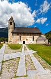 San Vigilio Church with Macabre Dance - Pinzolo