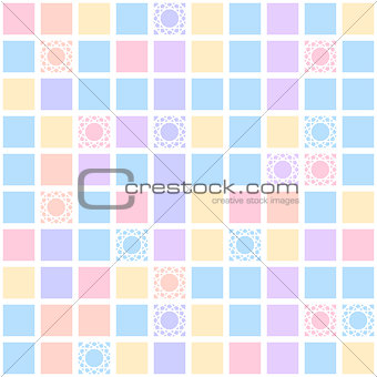 Abstract geometric seamless pattern with colorful squares background