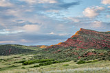 Colorado foothills at sunset