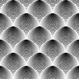 Design seamless cone illusion background