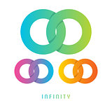 Infinity sign, different colored