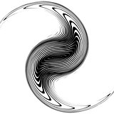 Design monochrome whirlpool movement background