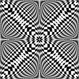 Design seamless illusion checkered pattern