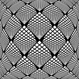 Design warped monochrome checked pattern