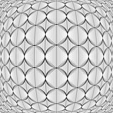 Design warped monochrome circle lines pattern