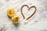 heart and pasta