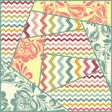 Vector color seamless patchwork pattern