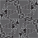 Vector seamless patchwork pattern
