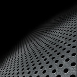 Abstract perforated metallic background